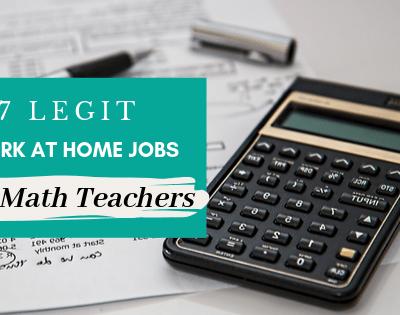 7 Legit Work-at-Home Jobs for Math Teachers
